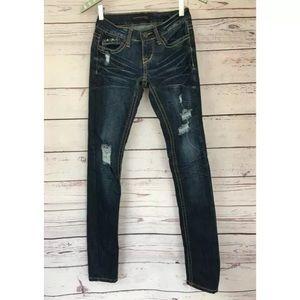 Twentyone Black Skinny Distressed Jeans 0 (27x32)